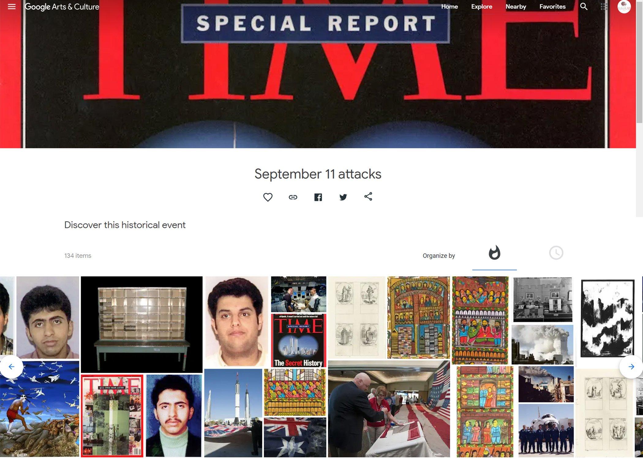 9-11 Google Arts & Culture