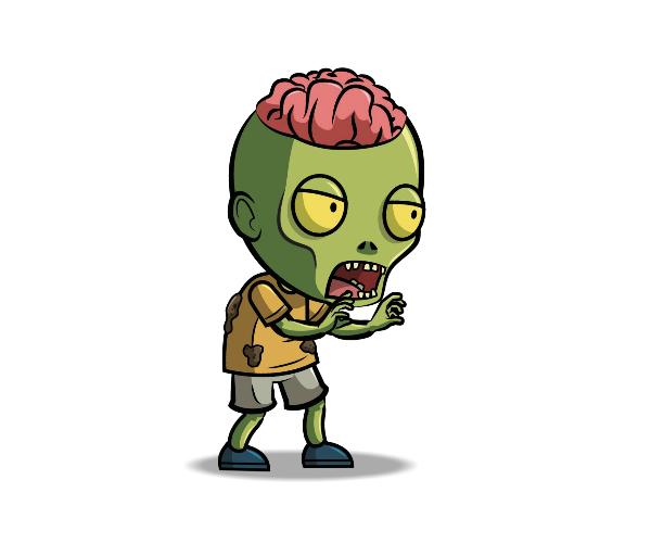 Brain-Exposed-Zombie-Royalty-Free-Game-Art