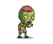Brain-Exposed-Zombie-Royalty-Free-Game-Art