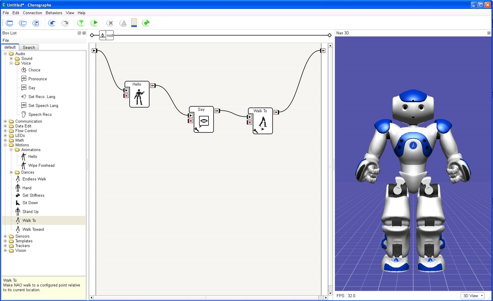 Choregraphe Software
