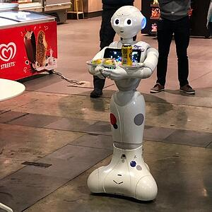 Our Pepper Robot - Banana Habanero - mid-mission