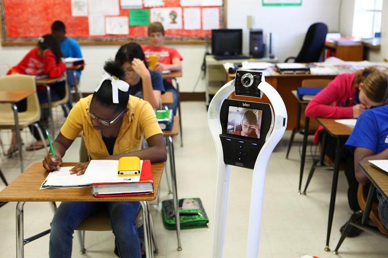 Telepresence-robot-school