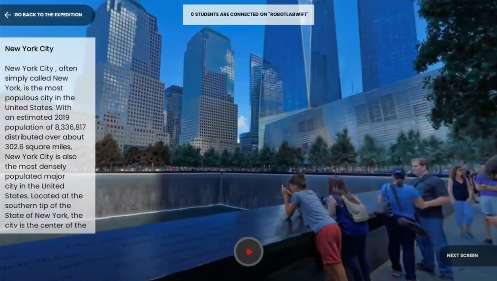 VR2.0 -Tablet screenshot Expedition