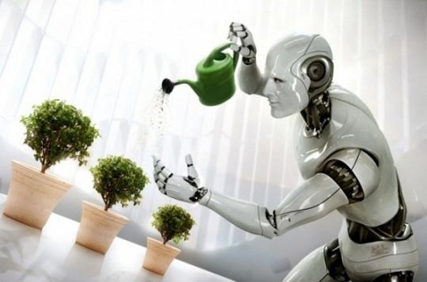 robot-servant-watering